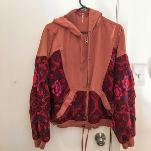 Free People Magpie Oversize Lacey Jacket - Size S